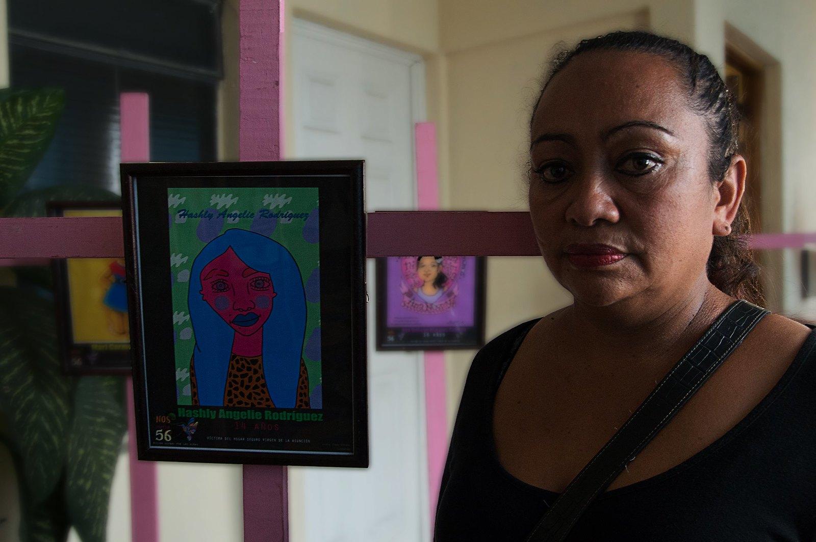 Vianney Domínguez es madre de Hashley Angelie Rodríguez de 14 años de edad