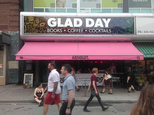 The new Glad Day Bookshop sign