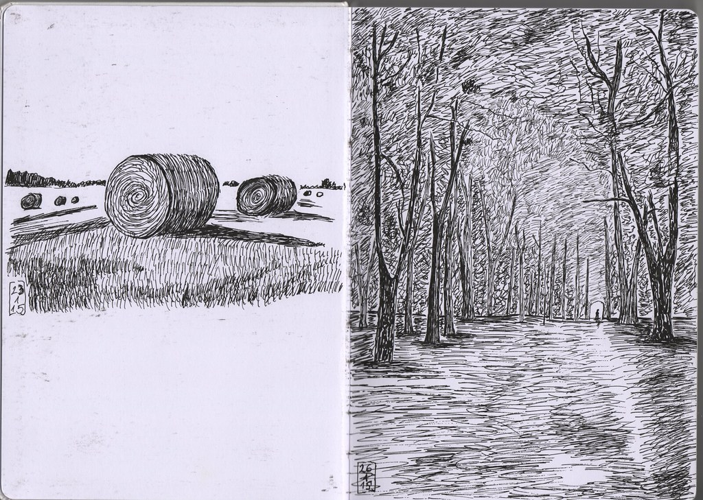 Sketchbook #2, page 1 and 2