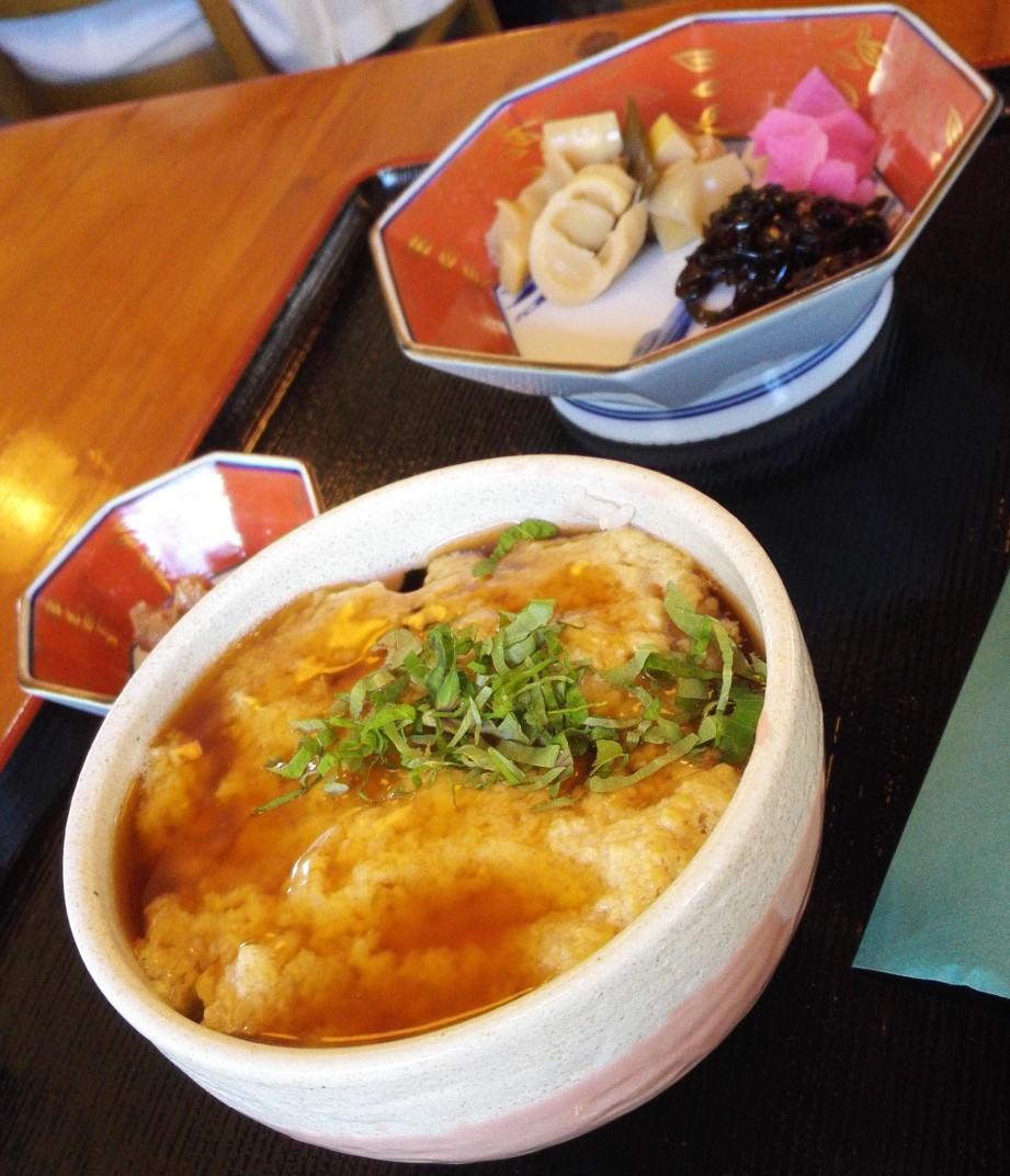 とろふわ丼 柳谷観音 たまや 楊谷寺 ランチ 食事