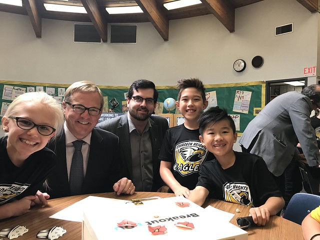 Minister David Eggen announces Classroom Improvement Fund