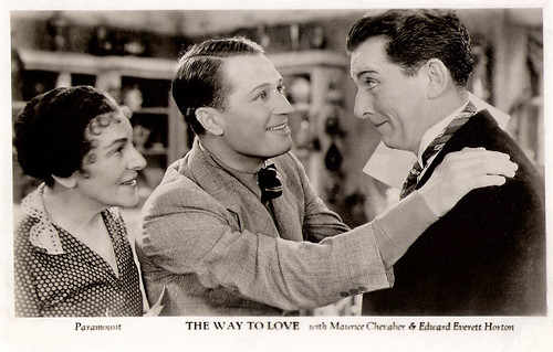 Maurice Chevalier and Edward Everett Horton in The Way To Love (1933)