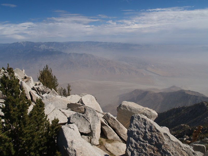 View north toward San Gorgonio Mountain and the Whitewater River from San Jacinto Peak