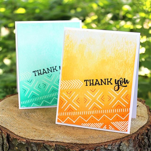 Textile Thank You Cards