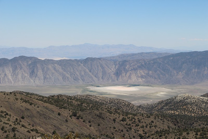 View out over Nevada and Deep Springs Lake from the Methuselah Trail - more like a dry lake