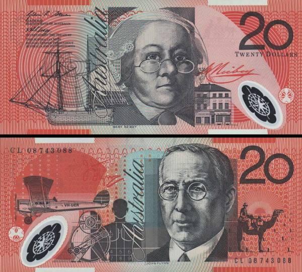 20 Dolárov Austrália 2008, polymer P59f