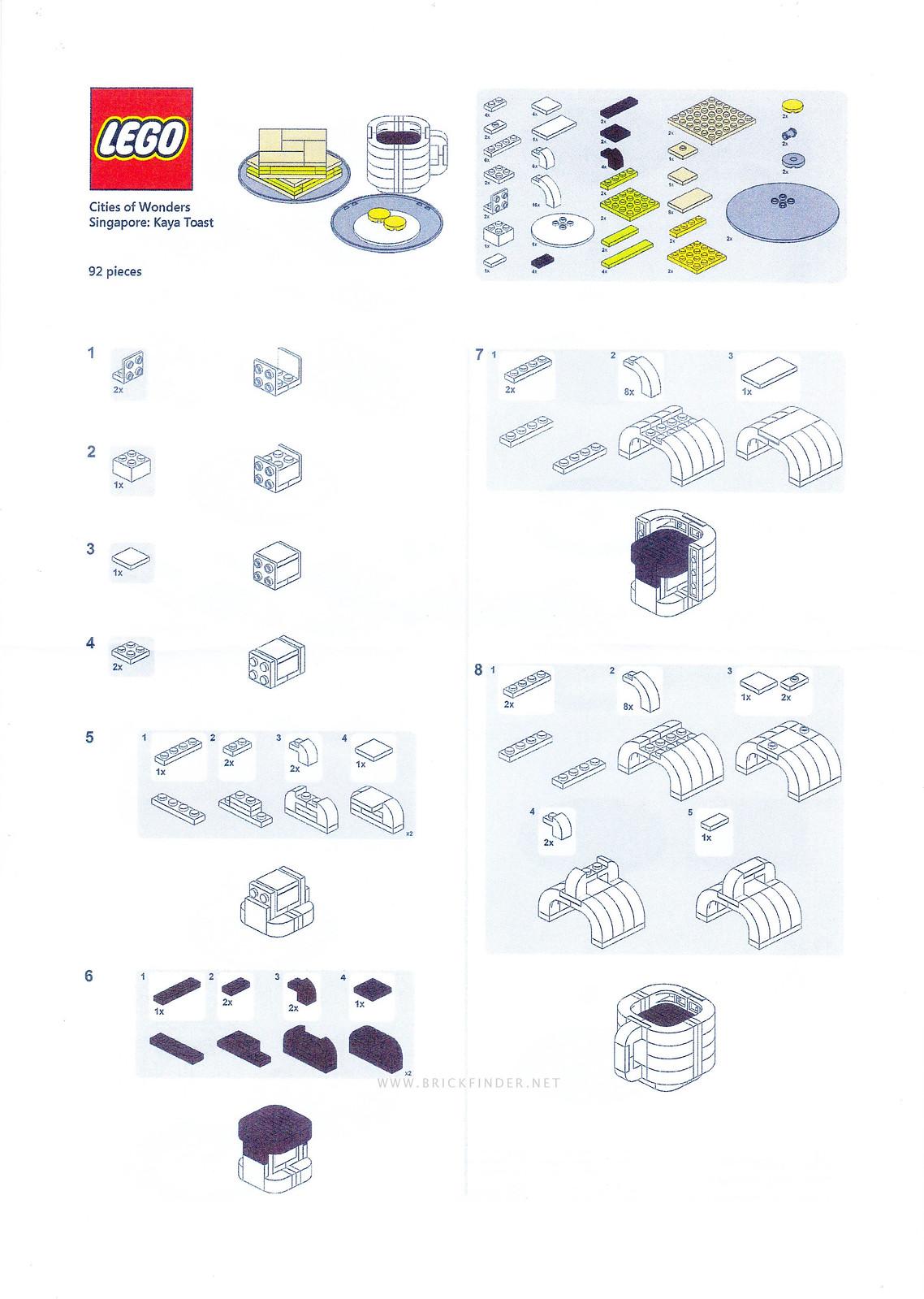 Kaya Toast Instructions Page 1