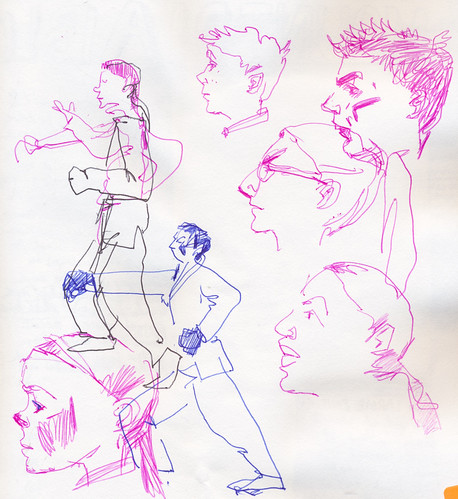 Sketchbook #104: My Life Drawing Class - trying to get faces.