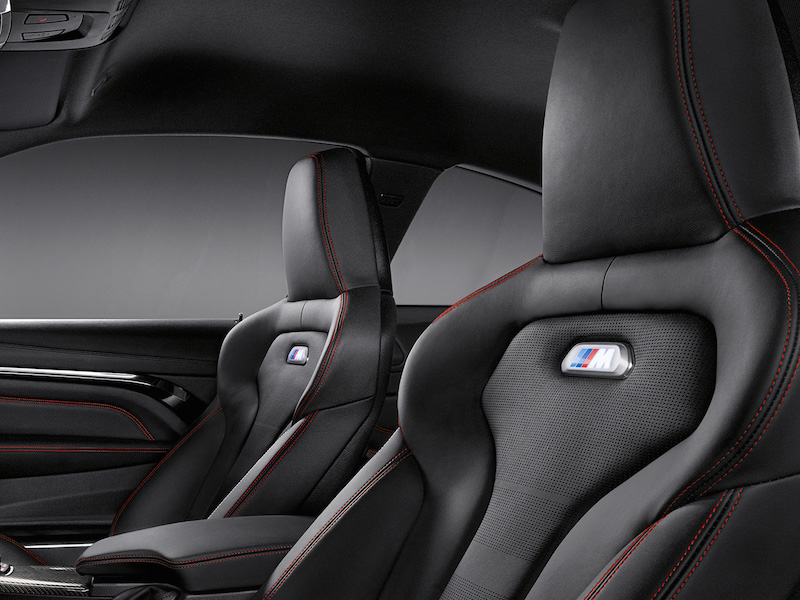 2014 BMW M4 Black Leather w/Contrasting Red M Stitching