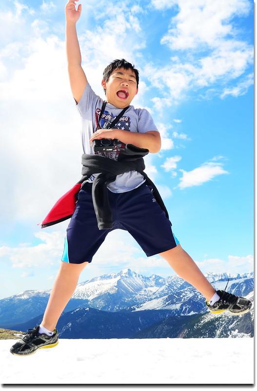 Jacob Jumping Over Longs Peak 2