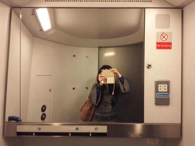 ミッドランドラインの車両のトイレ