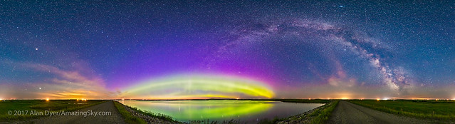 Arcs of the Aurora and Milky Way