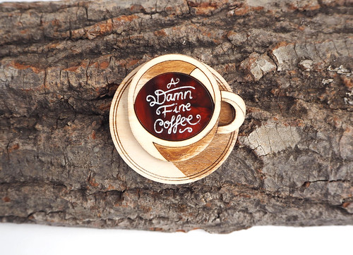 twin peaks coffee brooch