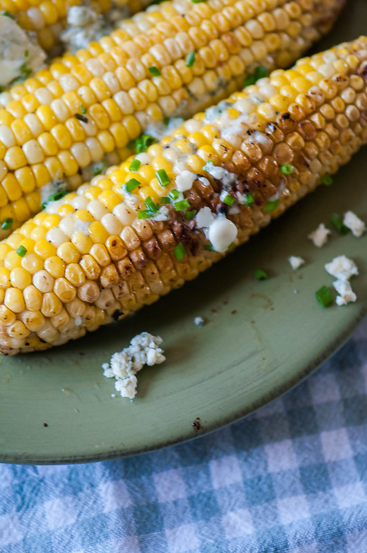 Grilled Corn with Gorgonzola Chive Butter