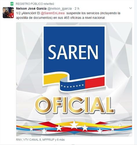 465 oficinas del saren suspenden sus servicios for Registro de bienes muebles central
