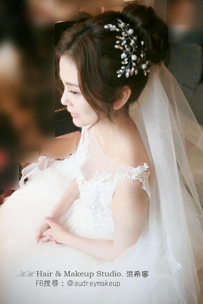 歐式新娘 韓風名媛新娘造型 新秘希寧 Fb搜尋 Audreymakeup 白紗髮型 敬酒髮型 送客髮型