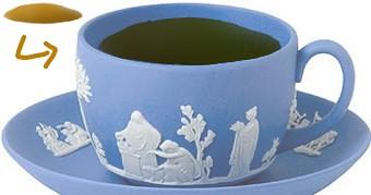 もしジャスパーウェアに烏龍茶を淹れたら woolong tea jasper pale blue