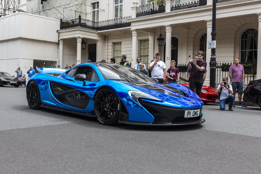 blue chrome mclaren p1 i was down in london for the day fo flickr