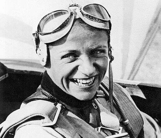 Hanna Reitsch, the only woman awarded the Iron Cross First Class and the Luftwaffe Pilot/Observer Badge in Gold with Diamonds during World War II. She  over forty aviation altitude and endurance records during her career, both before and after World Wa