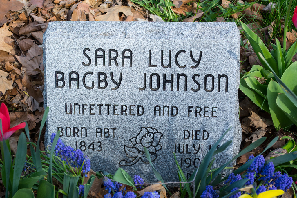 Sara Lucy Bagby Johnson grave - Woodland Cemetery