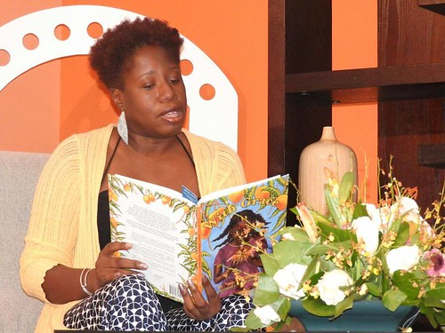 Author Joanne Hillhouse at a January 2017 appearance on a local morning show reading from With Grace. The show is Good Morning Antigua Barbuda on ABS TV. From #WeNeedDiverseBooks: Author Re-writes the Fairytale