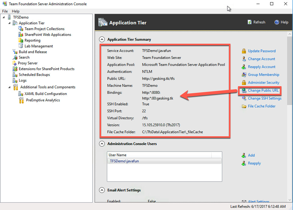 One day Play – Create a TFS 2017 Instance On Azure Virtual