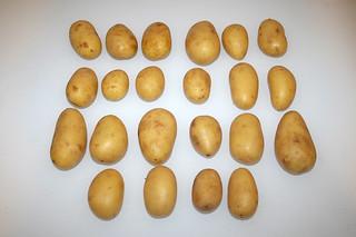 01 - Zutat Kartoffeln  (Drillinge) / Ingredient small potatoes