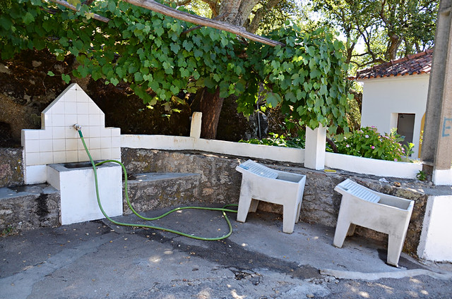 Communal washing area, the smugglers' trail, Galegos, Marvao, Portugal