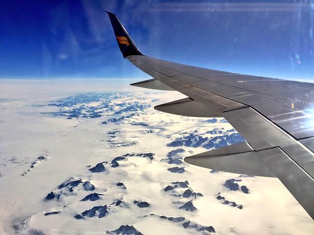 Avión Icelandair a Alaska (atravesando Groenlandia)