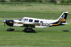 G-KNOW - 1978 build Piper PA-32-300 Cherokee Six, rolling for departure on Runway 26R at Barton