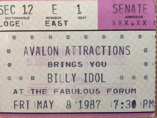 1987 Concert Stubs
