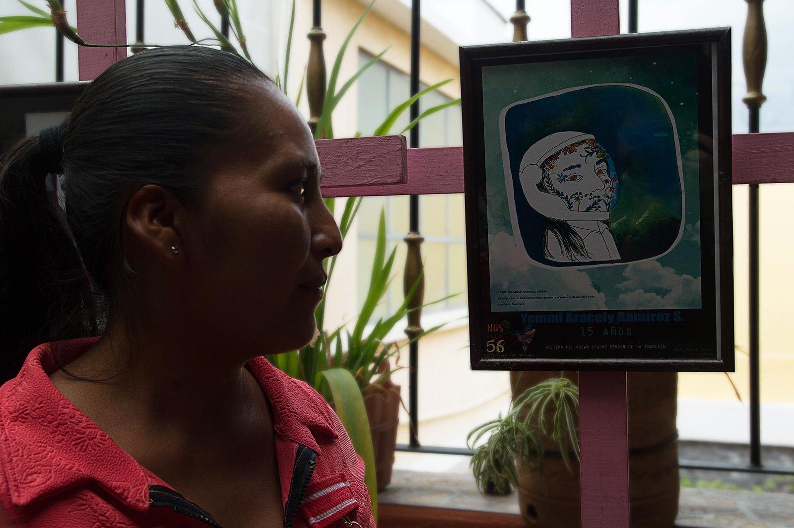 Elsa Siquín es madre de Yemmi Aracely Ramírez Siquín de 15 años