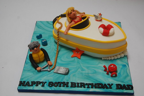 What A Fantastically Fun Cake For An 80 Year Old Waterskier The Waterskiing From 75