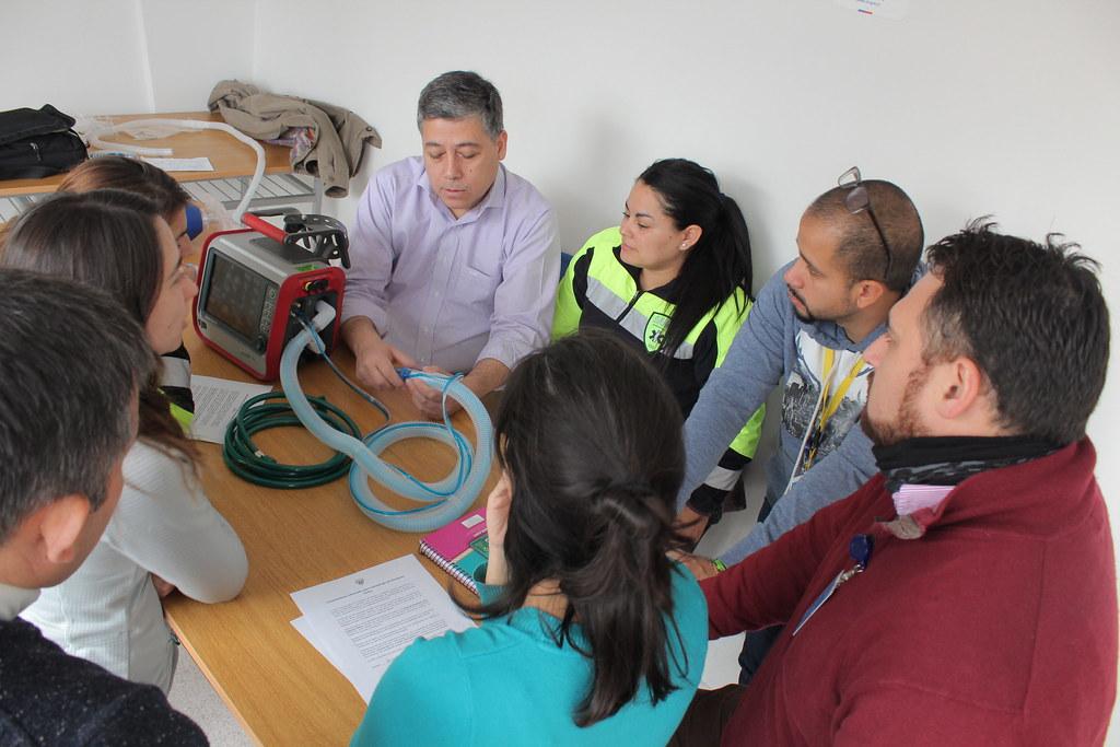 SAMU actualiza sus conocimientos en ventilación mecánica