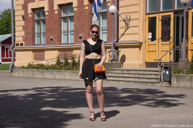 Taidemuseo Joensuu Päivän Asu River Island L.K. Bennett Gloomy Moon finnish blogger tyyliblogi muotiblogi bloggaaja Joensuu kesätekemistä Joensuussa vinkkejä taidenäyttelyt