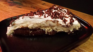 Peanut Butter Banana Chocolate Pie at Red Sparrow Pizza