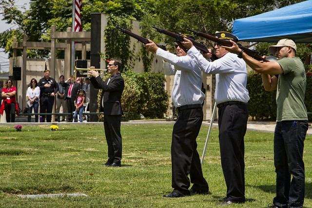 Memorial Day Downey Cemetery gun salute
