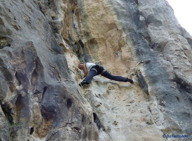 Gemma Clofent - Donut Cósmico, 6c+ -04- El Grau de Sant Climent, Sector A (10-06-2017)
