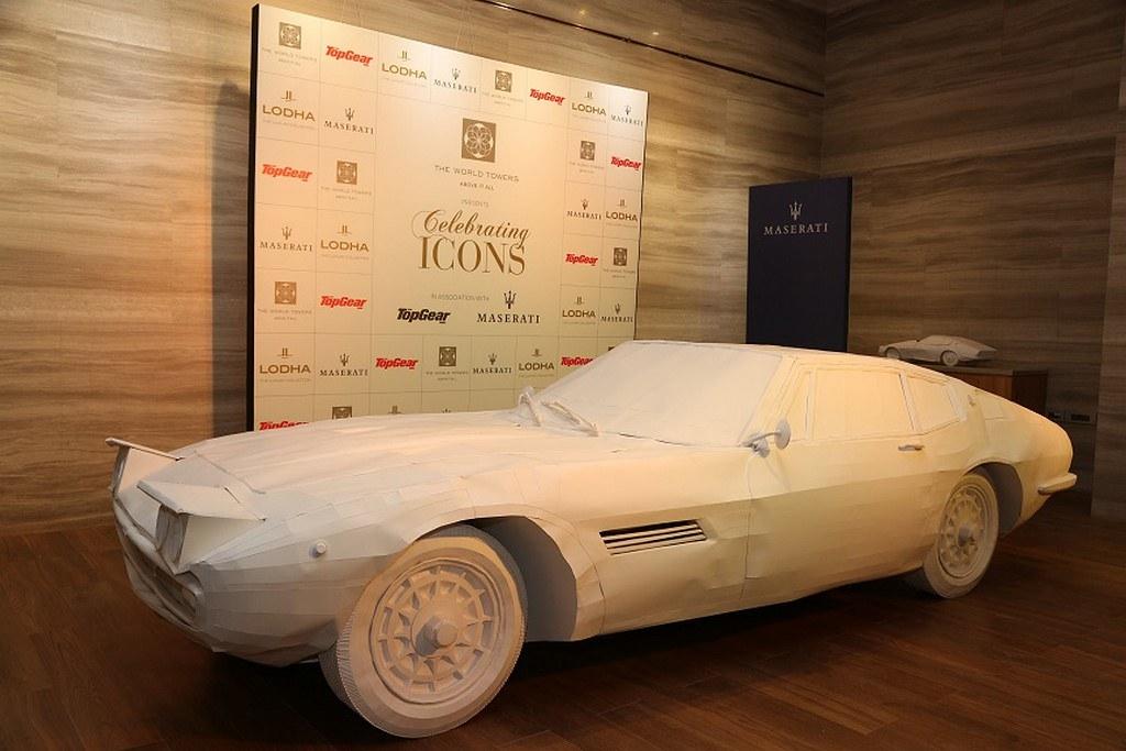 1967-Maserati-Ghibli-Paper-Art-Installation (3)