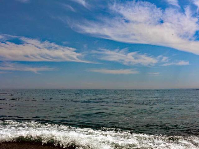 三陸の海に
