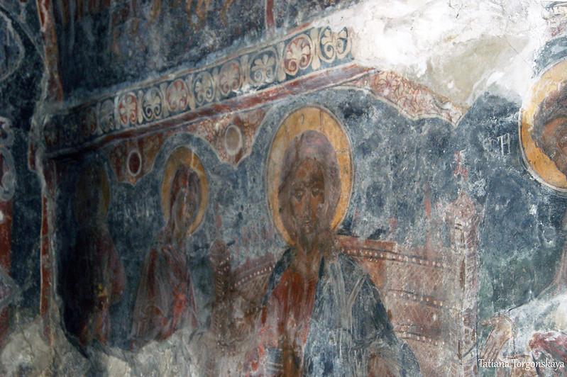 Роспись стен Успенской церкви