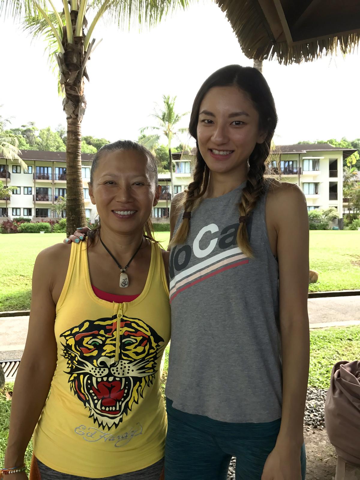 with Hatha flow yoga teacher Fei