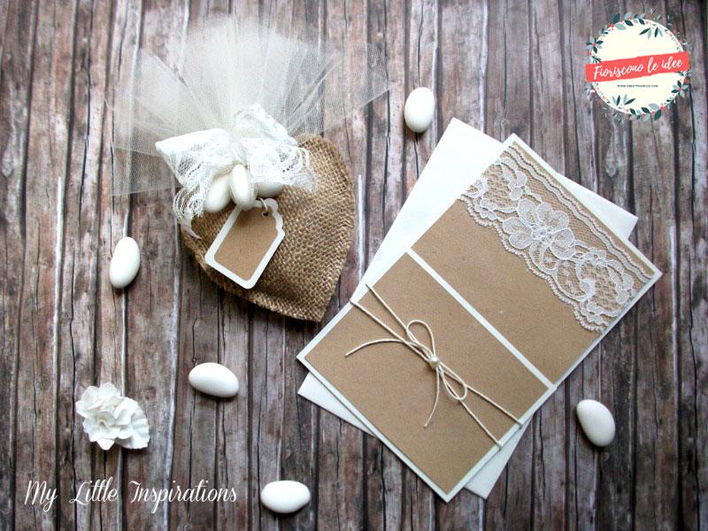 Tutorial Bomboniere Matrimonio Rustico Romantico invito+bomboniera - MLI