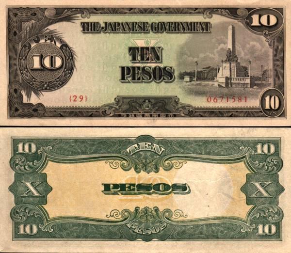 10 Pesos Filipíny 1943, P111a