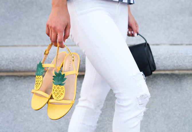 talbots pineapple flat sandals summer shoes