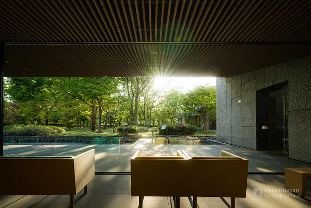Garden view from indoor of KOSHINOKUNI Museum of Literature (高志の国文学館)