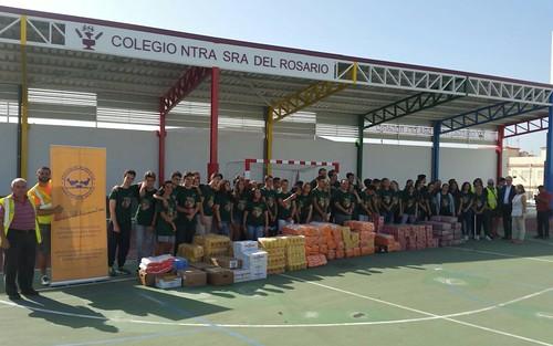 Noticias de ag imes el alumnado del colegio nuestra se ora del rosario entrega al banco de - Banco de alimentos de las palmas ...