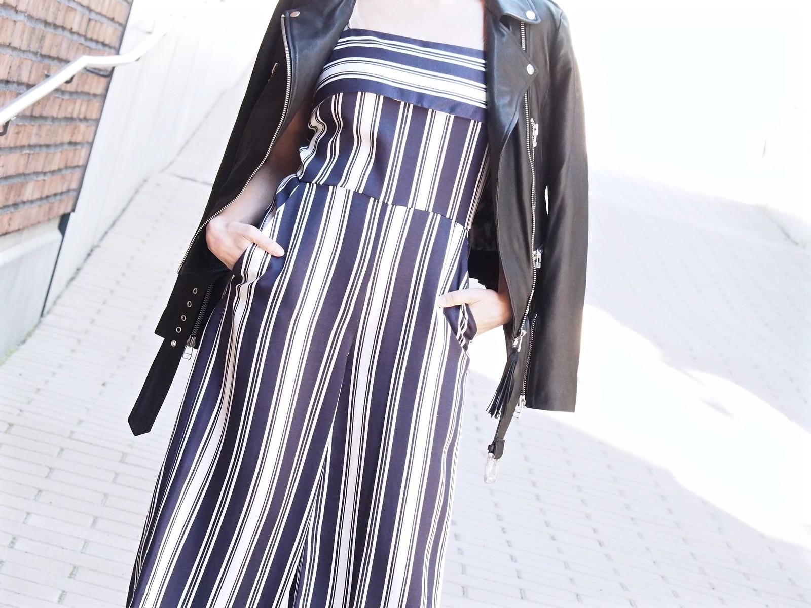Oasis Finland Stripe Culotte Jumpsuit