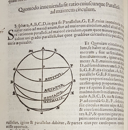 Instructional page from the 1562 printing of Ptolemy's Geographia.