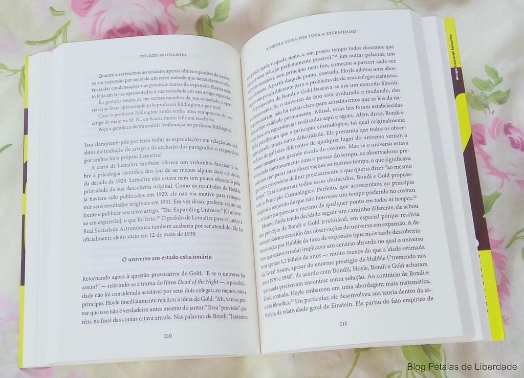 Resenha, livro, Tolices-Brilhantes, Mario-Livio, astrofisico, opiniao, critica, fotos, trecho, diagramação, editora-record, erros-de-cientistas, darwin, einstein